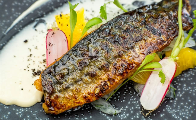 Fish is a speciality at the restaurant, with the tea smoked mackeral gracing the menu