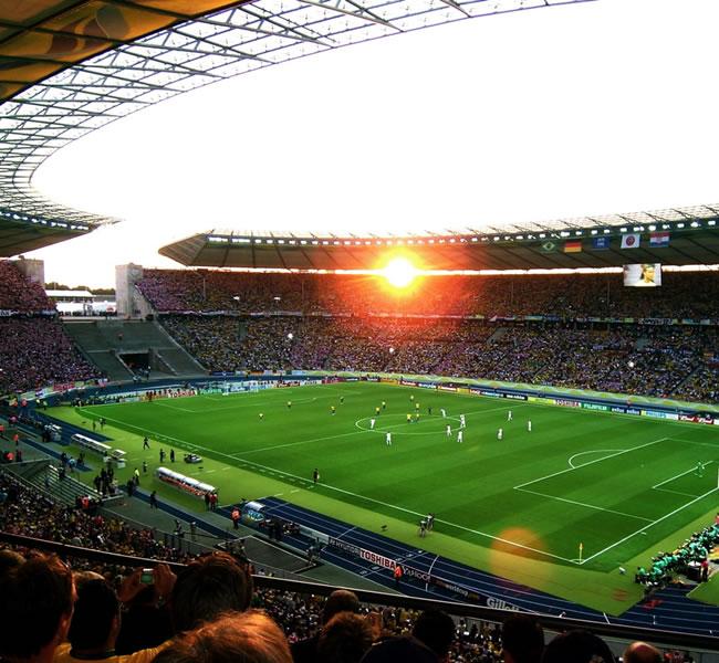 Berlin football stadium. Image copyright: FreeImages.com/Dinko Verzi