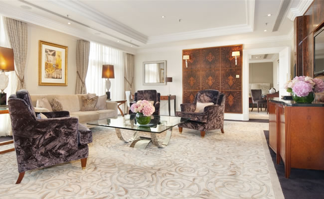 Check into the Presidential Suite, and enjoy the five star opulence of your own luxury home-from-home in the Capital