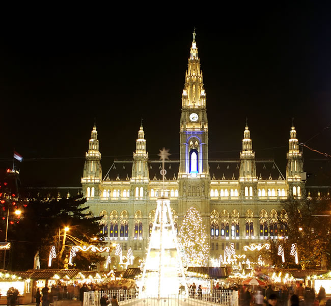 There could be no better place to get into the seasonal spirit than Vienna and its magical Christmas Markets. Image copyright: FreeImages.com/Christoph Schnabel