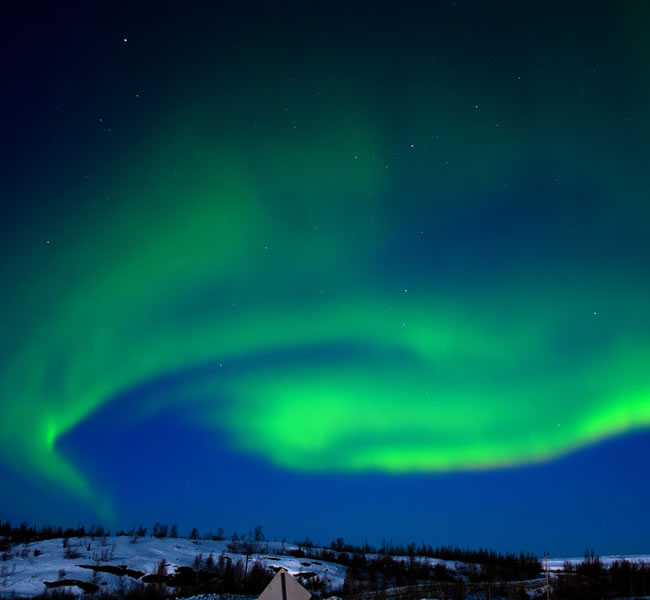 Canadian Northern Lights. Image copyright: FreeImages.com/Dave Dyet