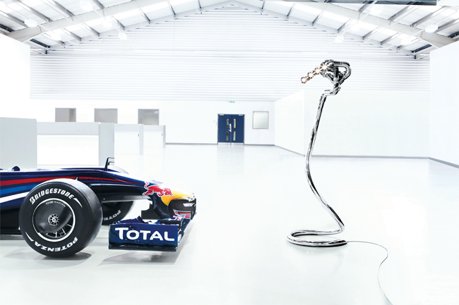 Floor-standing Polished Exhaust System Lamp