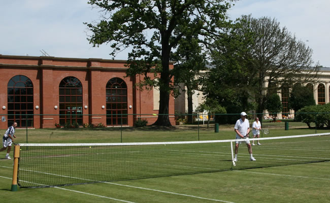 Tennis on the lawn at Stoke Park