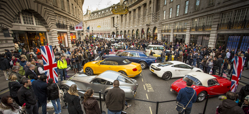 Free to all with a passion for Luxury Motoring is the Regent Street Motor Show 2015.