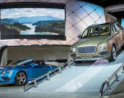 Bentley reveal Bentayga amongst other displays at the Frankfurt Motor Show, IAA.