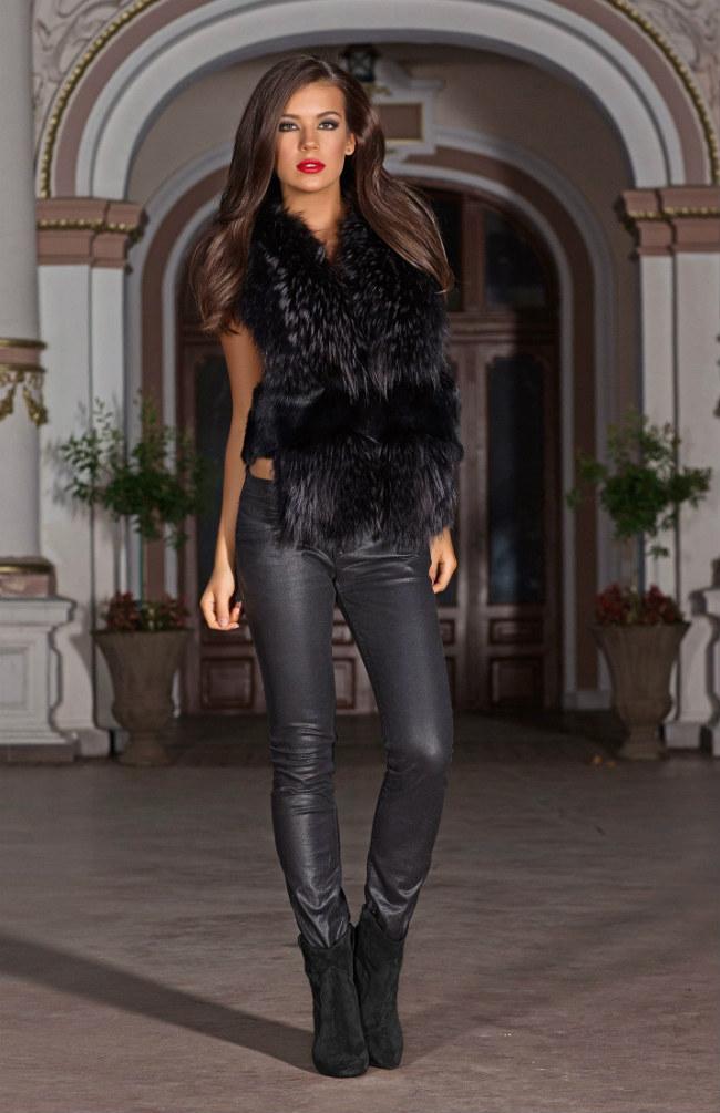 Celestine Fur Gilet in black