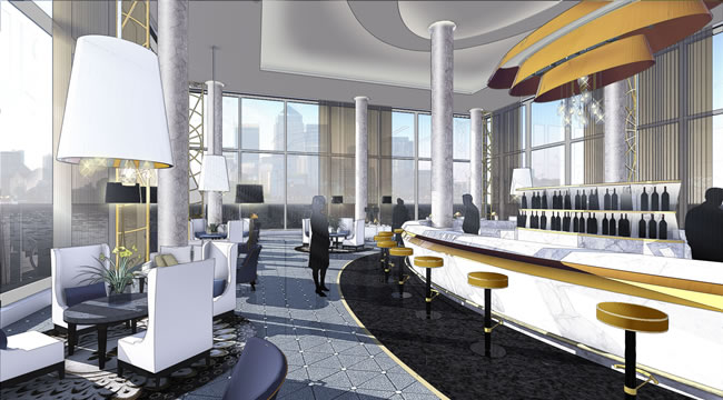 The new hotel will offer a luxury bar