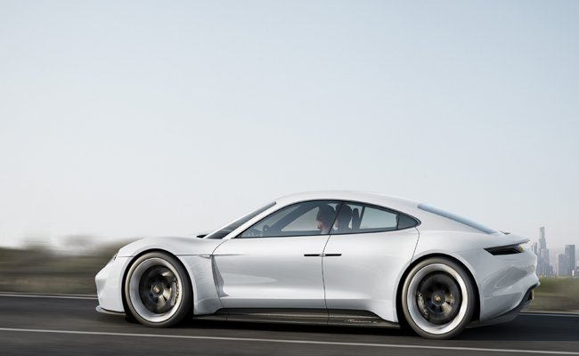 Mission E Concept Porsche is launched at the 2015 IAA.