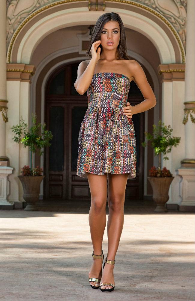 Vero-Milano-Valeray-Tribal-print-mini-dress