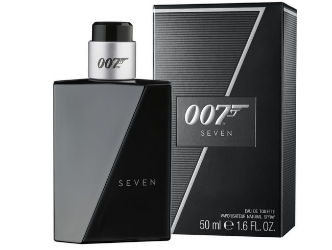 The new male fragrance comes in a sleek black bottle with a sharp-edged profile to create the shape of the number seven