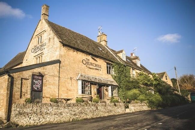 The pub is set in the heart of the famous Cotswolds in Gloucestershire