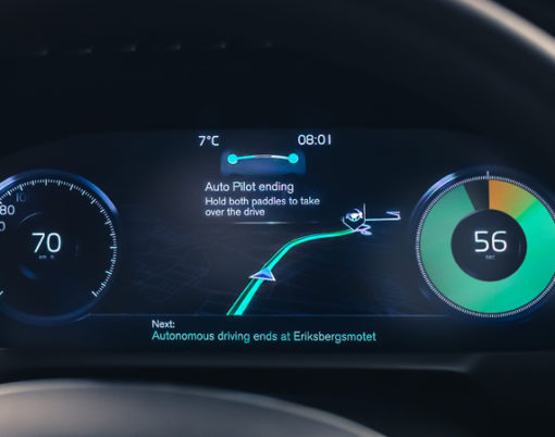 Volvo embrace autonomous driving with the IntelliSafe Auto Pilot system.