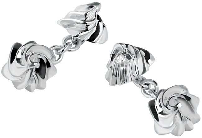 Iced Gem cufflinks in silver
