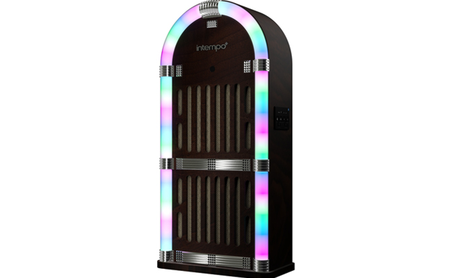 Intempo Jukebox brings the party with LED lights and multiple audio inputs.