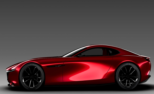 Mazda RX-VISION Concept is unveiled at Tokyo Motor Show 2015.