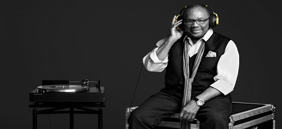 AKG collaborate with Quincy Jones on AKG N90Q noise cancelling headphones.