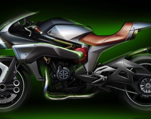 Advanced technologies can be seen on Kawasaki's Spirit Charge at Tokyo Motor Show 2015.