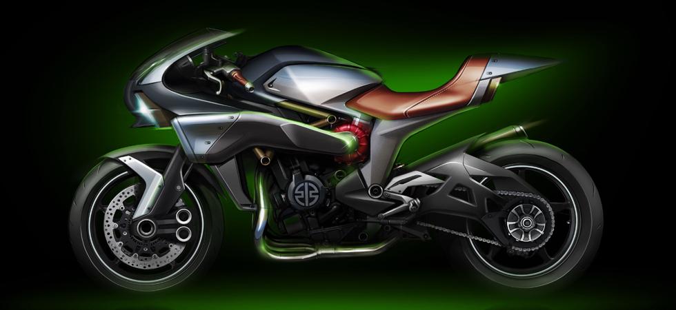 Advanced technologies can be seen on Kawasaki's Spirit Charge at Tokyo Motor Show 2015.