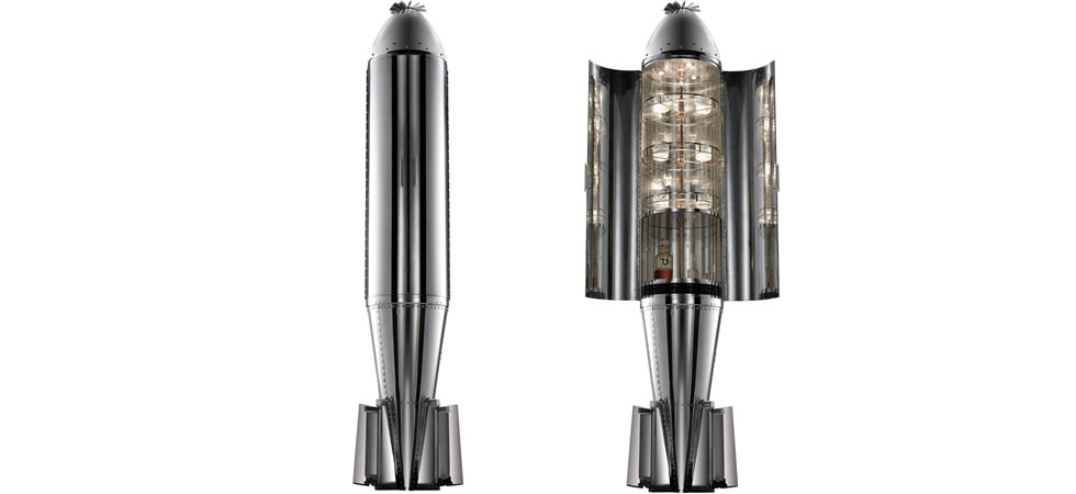 The R.A.F MK1 Practice Cluster Bomb Drinks Cabinet from Touched Interiors