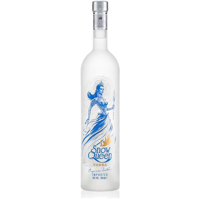 snow queen vodka bottle