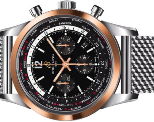 Breitling Transocean Pilot Chronograph 18ct Rose Gold and Stainless Steel Men's Watch