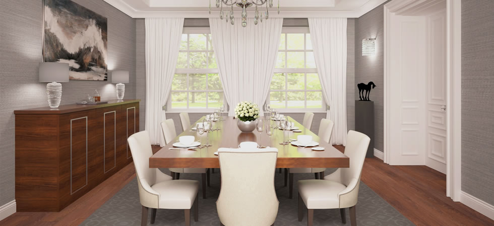 Luxury dining room amazing glass dining room table for Small luxury dining room