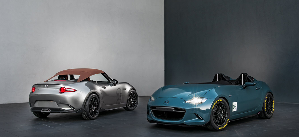 Lightweight and enhancing open-air driving Mazda unveil two concept cars.