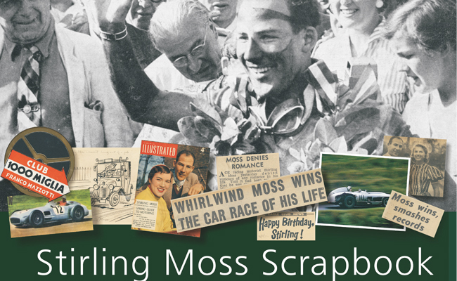 Sir Stirling Moss, the 1955 scrapbook is a great stocking filler.
