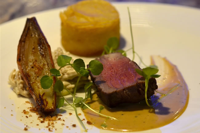 Roasted Galloway beef with truffle butter sauce