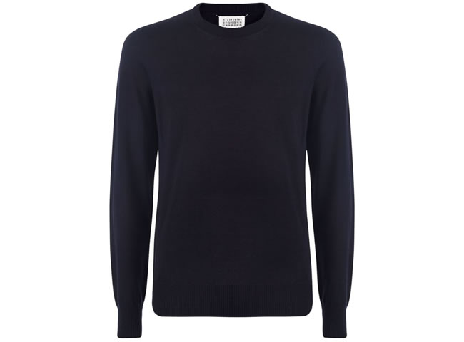 Maison Margiela Wool Blend Elbow Patch Sweater