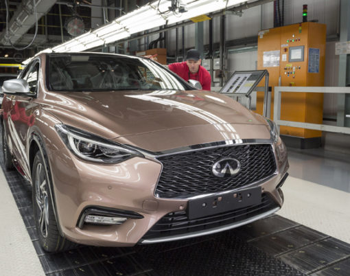 Infiniti Q30 makes history in Sunderland.