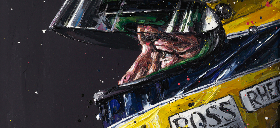 Remember one of the most iconic formula one drivers in a unique artwork from Paul Oz.
