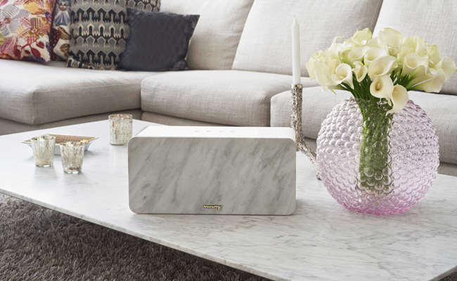 Audio systems become focus points for interior design with the Happy Plugs Sound Piece.