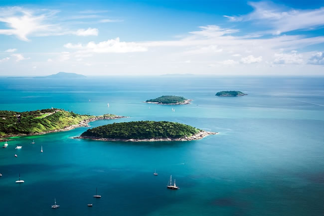 The Nai Harn is an icon of Phuket, overlooking a pristine beach and bay.