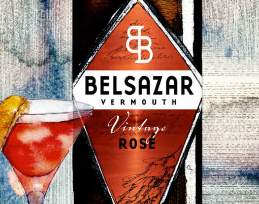 Belsazar's unique and exclusive Vintage Rose Vermouth