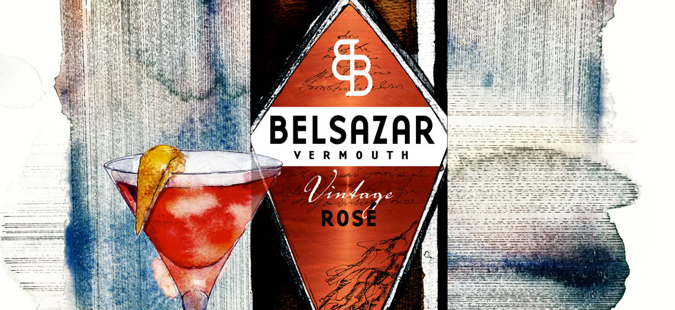Belsazar's unique and exclusive Vintage Rose Vermouth