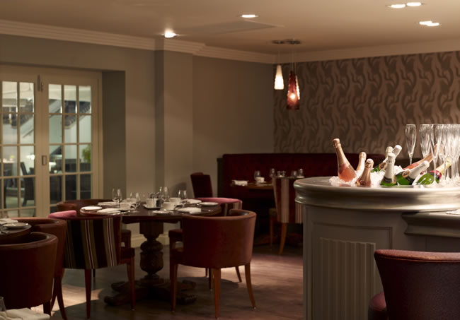 Champagne bar at The Arden