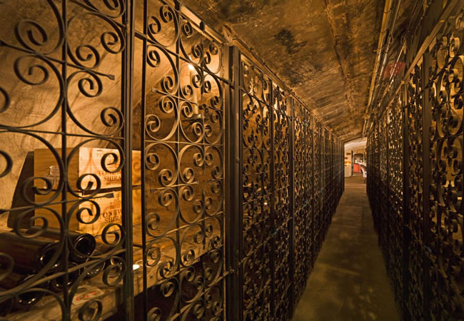 the wine cellar at the stafford hotel in london