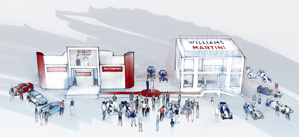 History through to present day will be on display thanks to Williams Martini Racing Partnership.