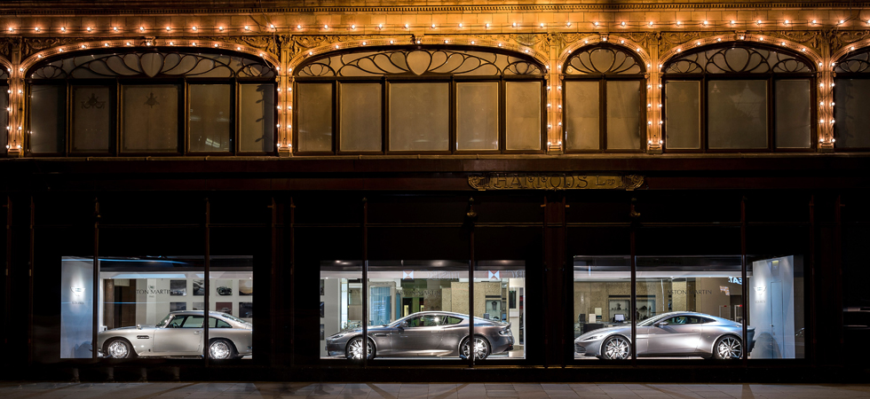 The history of the DB model makes an appearance at iconic London location.