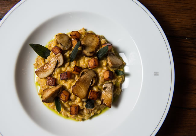 HDR - Acorn Squash & Spelt Risotto with Roasted Ceps and Autumn Truffle