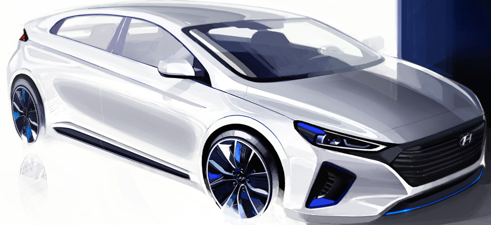Set for launch later in 2016 the Hyundai team have unveiled IONIQ design details.