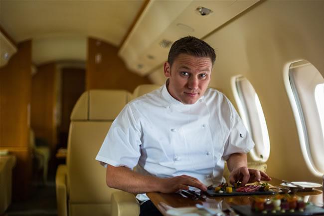 food on private jet