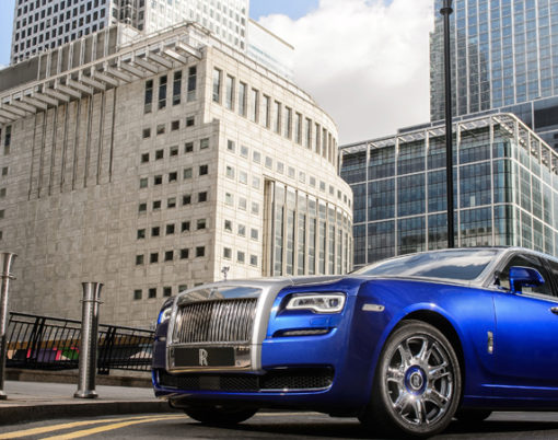 Chaffeur driven Rolls-Royces set for Richard James London event.