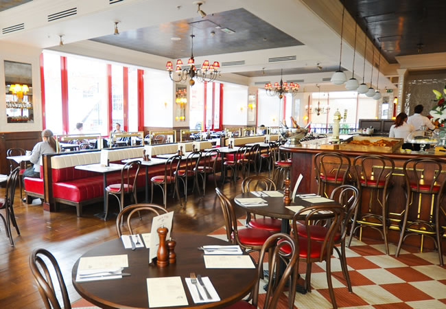 Café Rouge, St Pauls in London