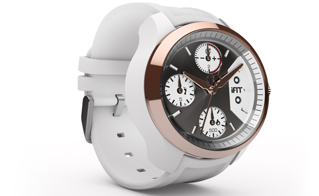 Analogue meets fitness in the iFit fitness watch.