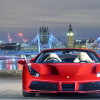 Formula One helps to unveil the Ferrari 488 Spider in London.