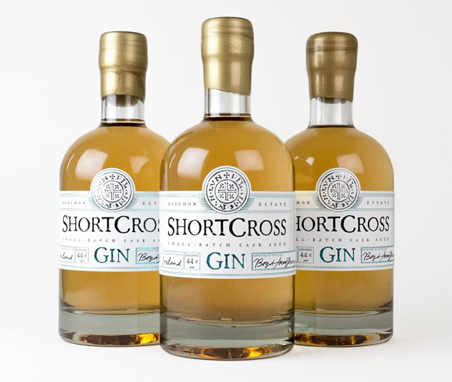 New cask-aged Shortcross Gin launched by Rademon Estate Distillery