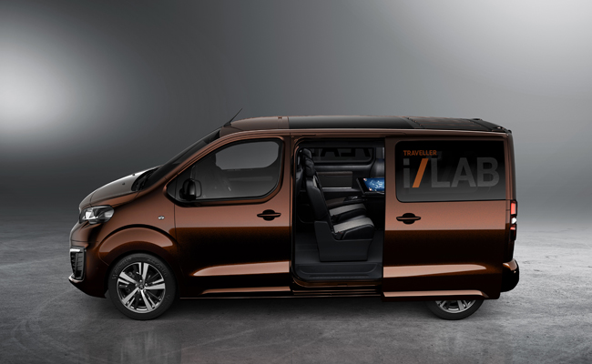 Business travel meets luxury with Peugeot Traveller Concept in Geneva.