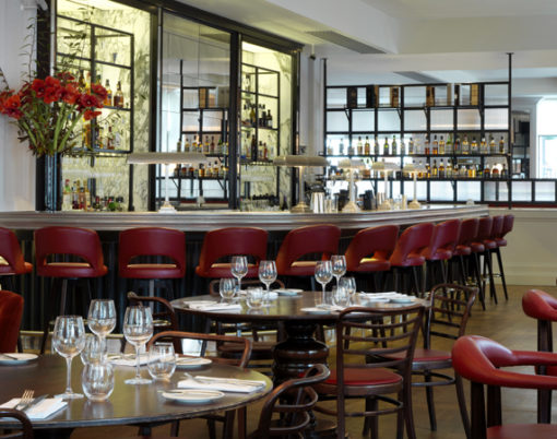 France design combined with English taste at the 108 Brasserie.